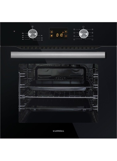 Luxell Luxell 8 Prg Ddt Dijital Siyah Vitroseramik Ocaklı Ankastre Set Siyah